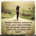 Thought For Today: Respect Yourself