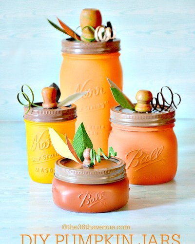 DIY Pumpkin Mason Jar Tutorial