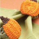 Knitted Pumpkin Napkin Rings