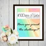 #30Days of Lists Challenge