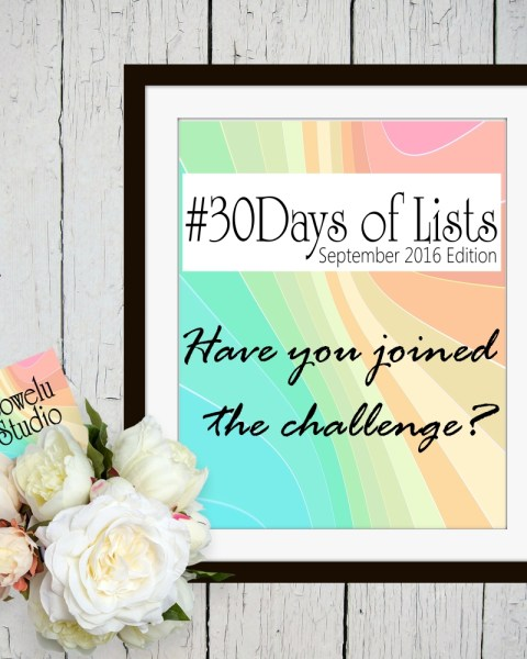 #30Days of Lists Challenge