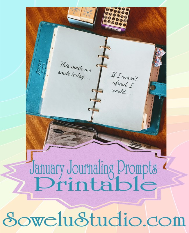 January Journaling Prompts Printable