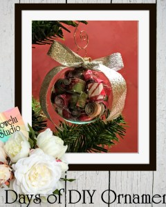 12 Days of DIY Christmas Ornaments ~ Day One