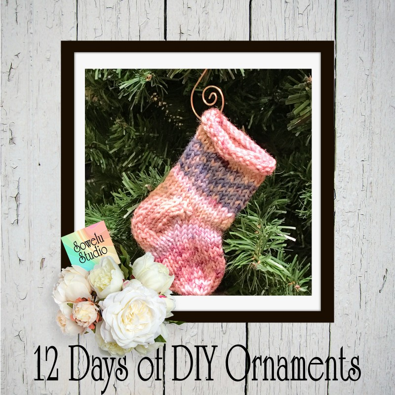 Knitted Sock Ornament