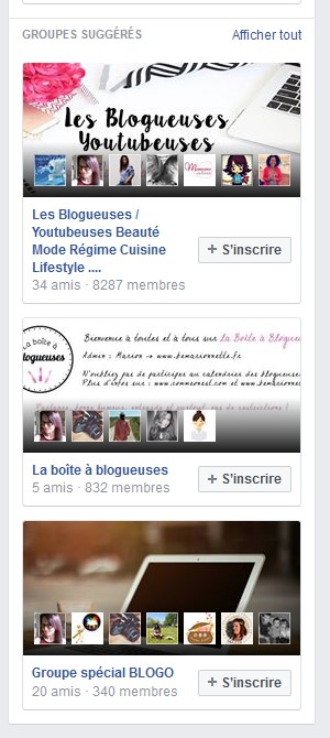 Facebok groupes suggeres
