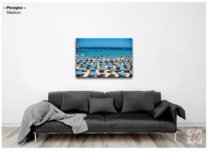 """Photographie """"Les parasols bleus"""", en vente sur Coogee.io"""