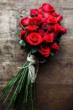 Bouquet de roses rouges Crédit photo: Pinterest