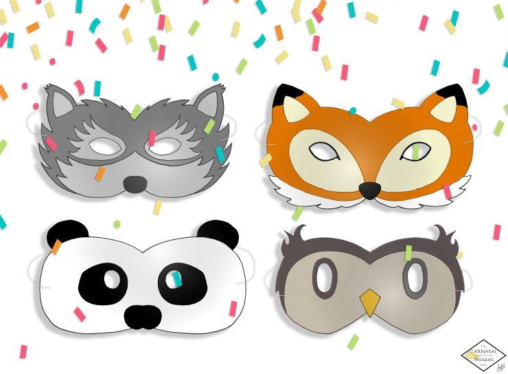 masques animaux carnaval