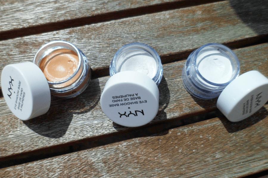 Trois pots de make up de la marque Nyx