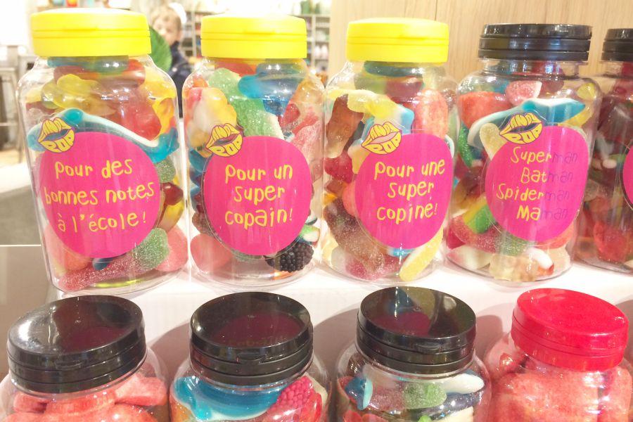 Flacons de bonbons de la marque Candy Pop