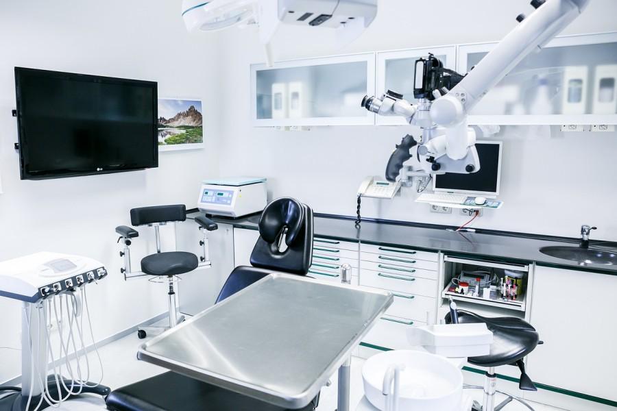 Cabinet vide de soins dentaires