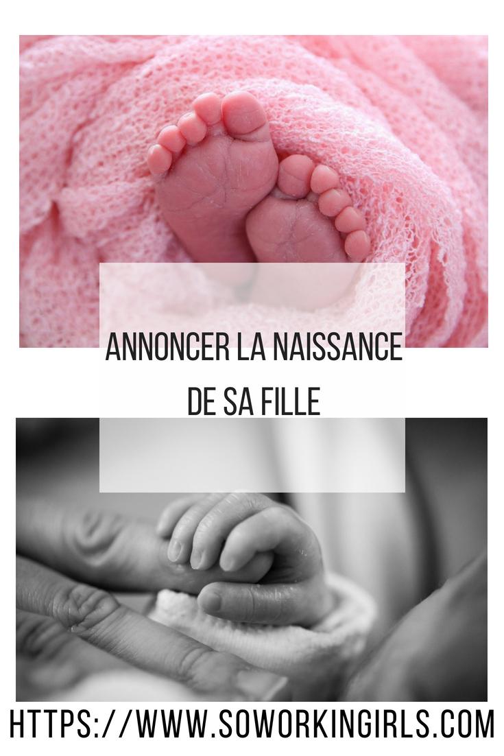 Annonce de la naissance de son bébé fille