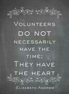 volunteers with heart