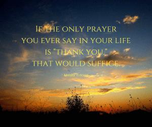 the only prayer