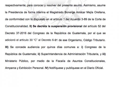 La CC suspendió de manera provisional el artículo que permite a SAT solicitar información de cuentas bancarias. (Foto: Captura de pantalla)