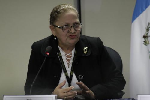 María Consuelo Porras dijo que se cumple el acuerdo en el que Thelma Aldana estableció su seguridad por tiempo indefinido. (Foto: Alejandro Balán/Soy502)