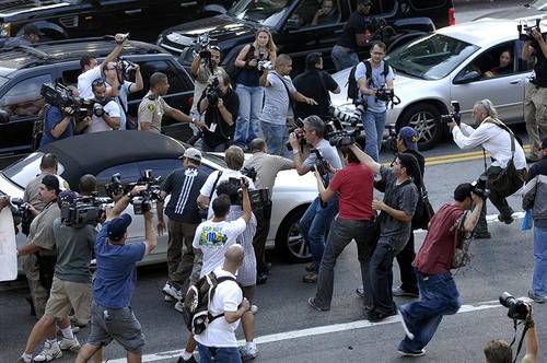 Britney Spears fled the paparazzi, 2007 (Photo: GettyImages)