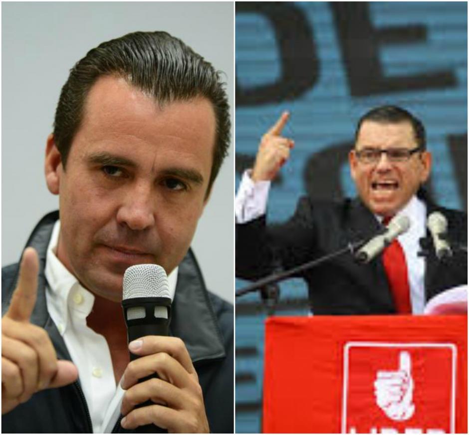 Los excandidatos presidenciables Alejandro Sinibaldi y Manuel Baldizón están relacionados penalmente al caso Odebrecht. (Fotos: archivo/Soy502)