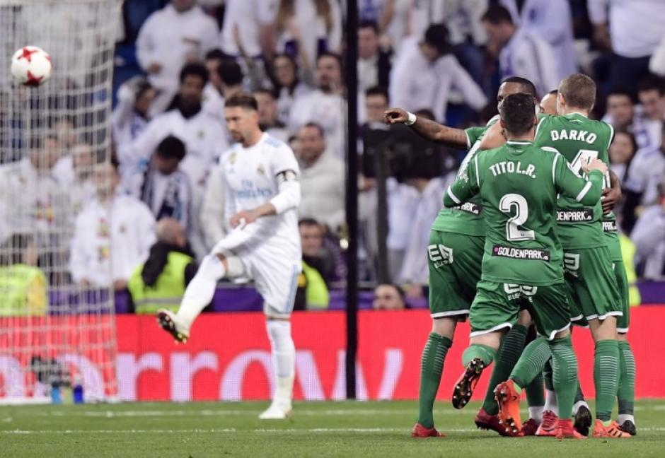 El Leganés doblegó al Real Madrid y lo elimina de la Copa del REy. (Foto: AFP)