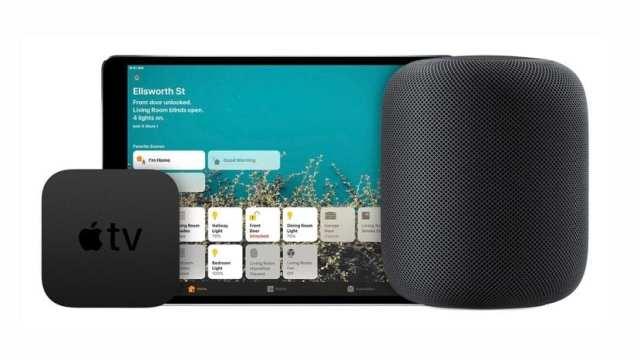 Apple televisión y HomePod