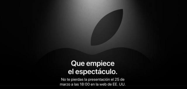 Keynote marzo(mes del año) Apple