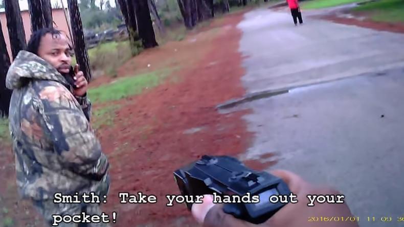 Actuación policial grabada con una bodycam
