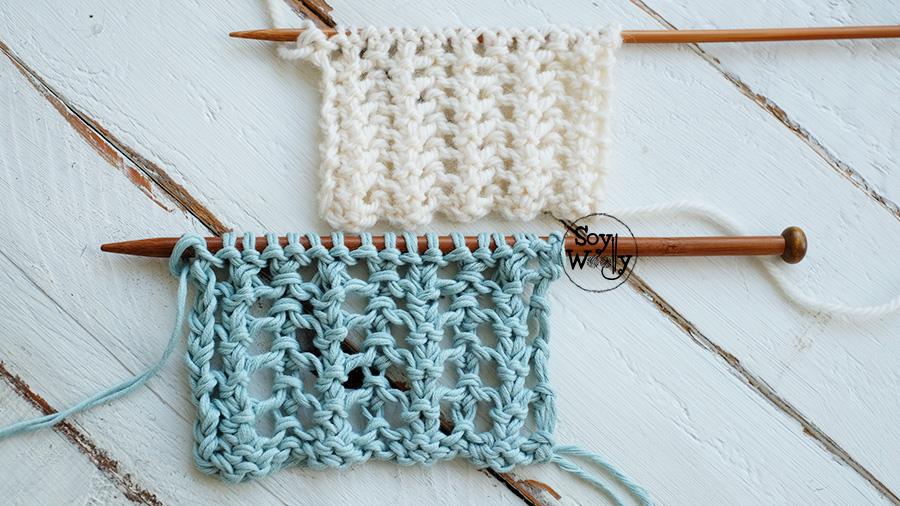 Como tejer Puntos Calados paso a paso-Soy Woolly