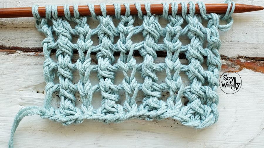 Punto calado vertical a palitos-Soy Woolly
