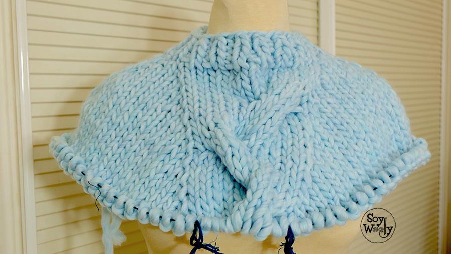 Como tejer una capa en dos agujas palillos tricot