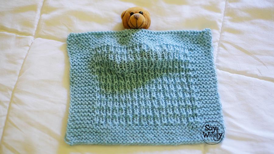 C mo tejer una manta de beb muy f cil en dos agujas soy - Manta de crochet facil ...