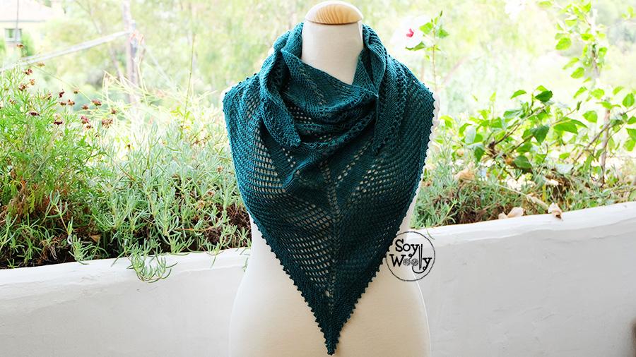 como tejer un chal calado en dos agujas paso a paso calceta tricot