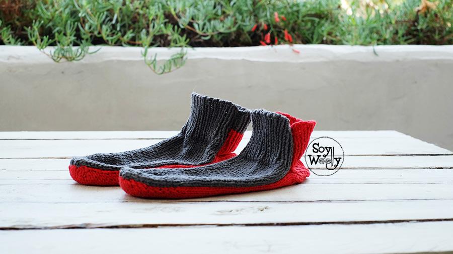 medias calcetines patucos pantuflas tejidos en dos agujas calceta palillos