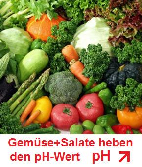 Gemüse und Salate - der pH-Wert steigt