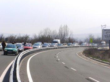 На път към първата бензиностанция - Лукойл - Черноморец