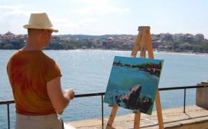 Немски художници отново рисуват Созопол 1