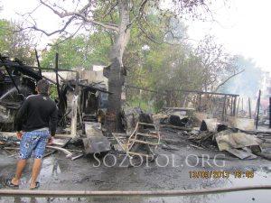 Следите от пожара в Созопол; снимка: Николай Тенев