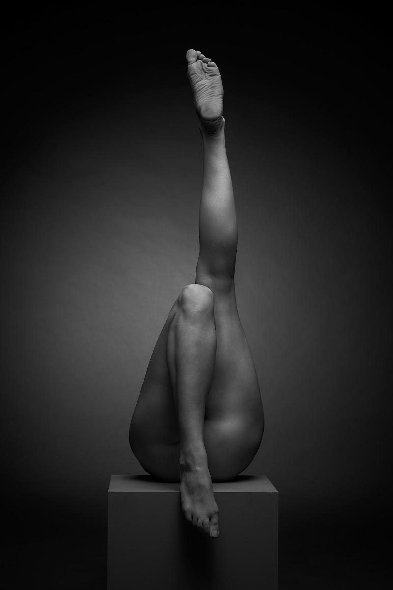 jambes noir et blanc