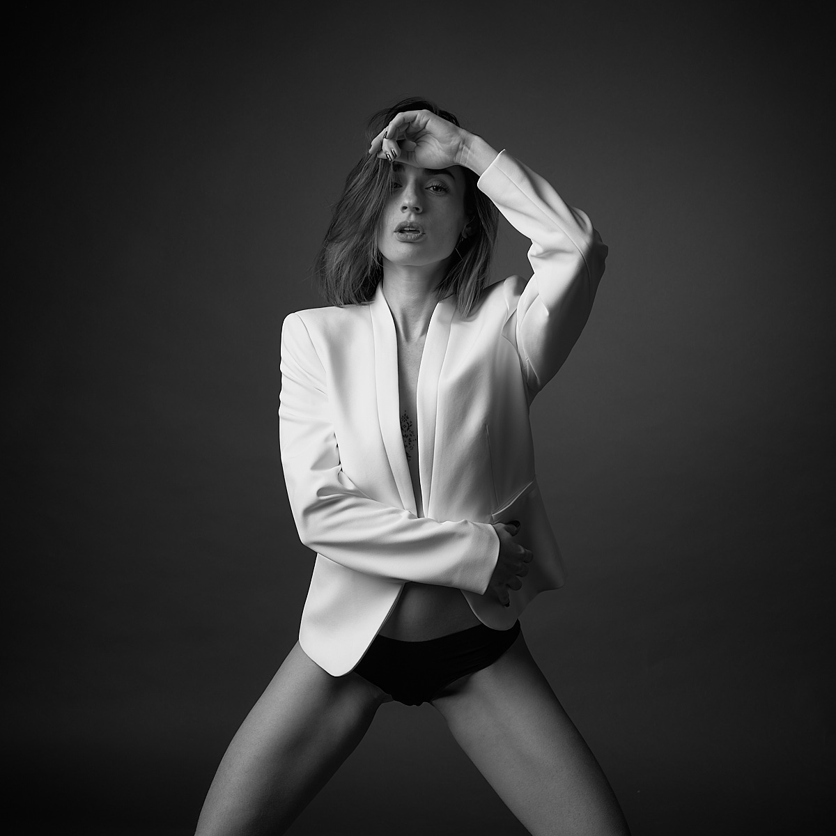 Femme veste blanche