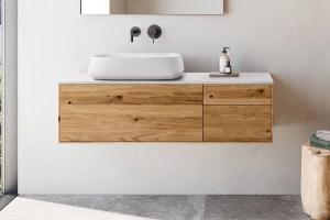 """Waschtischunterschrank """"INSA"""" aus Massivholz mit ..."""