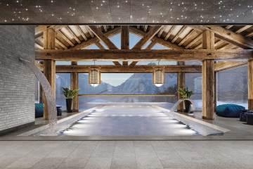 Spa avec vue au pied du Mont-Blanc