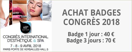 Badges Congrès de l'Esthétique et du Spa 2018