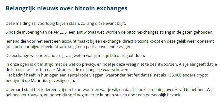 Strenge regelgeving crypto exchanges