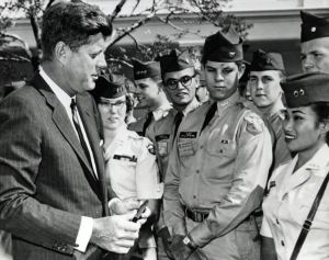 Early Cadets with JFK