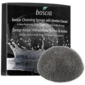 Boscia Konjac Cleansing Sponge with Bamboo Charcoal.
