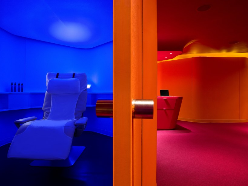 Superfunky color play at Yelo NYC treatment rooms