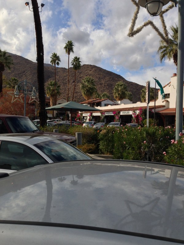 Mountain vista from old town Palm Springs.