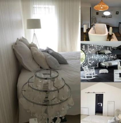 maison d'hôtes spa campagne design ambiance générale chambre white