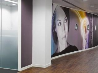 Image of Thomas Cook HQ bespoke digital wall graphics