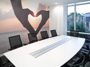 Image of Thomas Cook HQ meeting room table