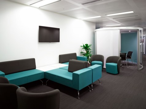 Image of Thomas Cook HQ waiting and break-out area